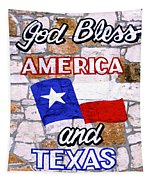 God Bless America And Texas 2 Tapestry
