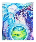 God, Goddess, Earth Ripple Effect Tapestry
