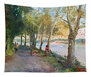 Going For A Stroll Tapestry