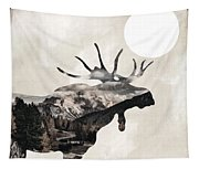 Going Wild Moose Tapestry