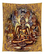 Gold Buddha - Peace  Tapestry