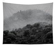 Gold Hill Winter Scene Tapestry