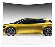 Gold Lexus Lf-ch Hybrid Car Tapestry