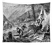 Gold Mining, 1853 Tapestry
