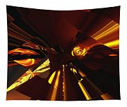 Golden Brown Abstract Tapestry