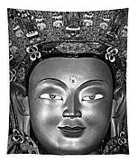 Golden Buddha Monochrome Tapestry