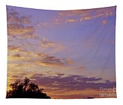 Golden Clouds At Sunset Tapestry