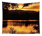 Golden Day At The Lake Tapestry