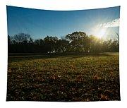 Golden Dew Autumn Sunrise Tapestry