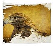 Golden Eagle Grunge Portrait Tapestry