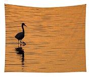 Golden Egret Tapestry