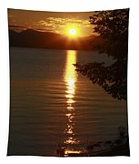 Golden Evening Sun Rays Tapestry