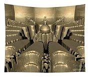 Golden Fractal #1 Tapestry