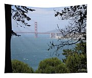 Golden Gate Bridge Through The Trees Tapestry