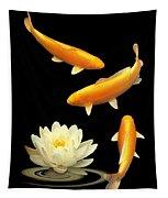 Golden Harmony Vertical Tapestry
