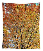 Golden Leaves - Oil Paint Tapestry