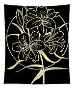 Golden Lilies Tapestry