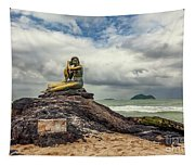 Golden Mermaid Thailand Tapestry