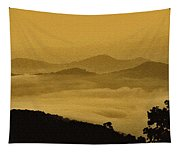 Golden Morning Above The Clouds Tapestry