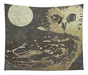 Golden Owl Tapestry