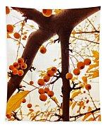 Golden Raindrops Tapestry