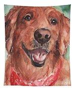 Golden Retriever Dog In Watercolori Tapestry