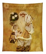 Golden Santa Card 2015 Tapestry