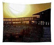 Golden Slats Tapestry