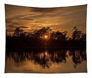 Golden Sunburst At The Lake New Jersey  Tapestry