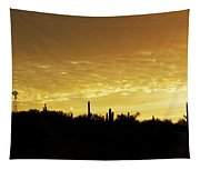 Golden Sunrise Tapestry