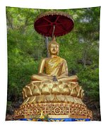 Golden Thai Buddha Tapestry