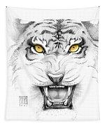 Golden Tiger Eyes Tapestry