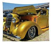 Golden Vintage Dodge Tapestry