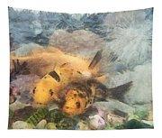 Goldfish In An Aquarium Tapestry