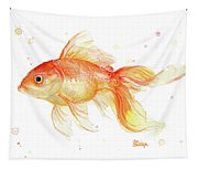 Goldfish Painting Watercolor Tapestry