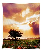 Golds At Sunset After The Rain Tapestry