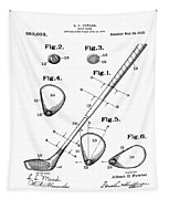 Golf Club Patent 1910 Tapestry