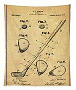 Golf Club Patent 1910 Sepia Tapestry