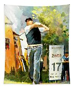 Golf In Club Fontana Austria 01 Dyptic Part 01 Tapestry
