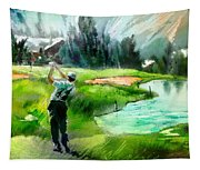 Golf In Crans Sur Sierre Switzerland 01 Tapestry