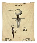 Golf Tee Patent 1899 Sepia Tapestry