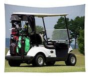 Golfing Golf Cart 05 Tapestry
