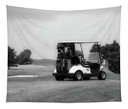 Golfing Golf Cart 06 Bw Tapestry