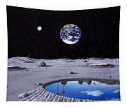 Golfing On The Moon Tapestry