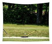 Golfing Sand Trap The Ball In Flight 02 Tapestry
