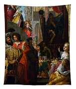 Daniel And Cyrus Before The Idol Bel Tapestry