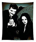 Gomez And Morticia Addams Tapestry