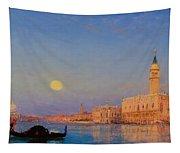 Gondola On St. Mark's Basin. Venice Tapestry