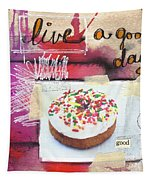 Good Day Donut- Art By Linda Woods Tapestry