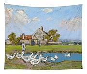 Goose Girl At Sablons Tapestry